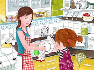 мыть посуду по-английски