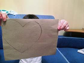 Поделка сердце на английском языке. Шаг 2