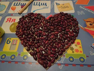 Поделка сердце на английском языке. Шаг 5