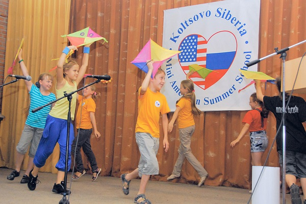 Mini American Summer School having fun activities