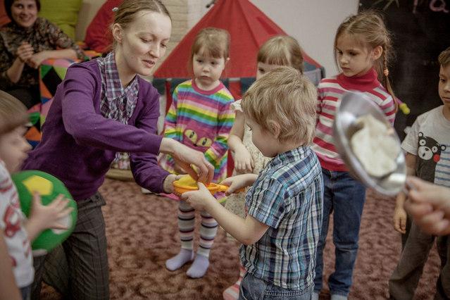 блинная гонка на детском празднике
