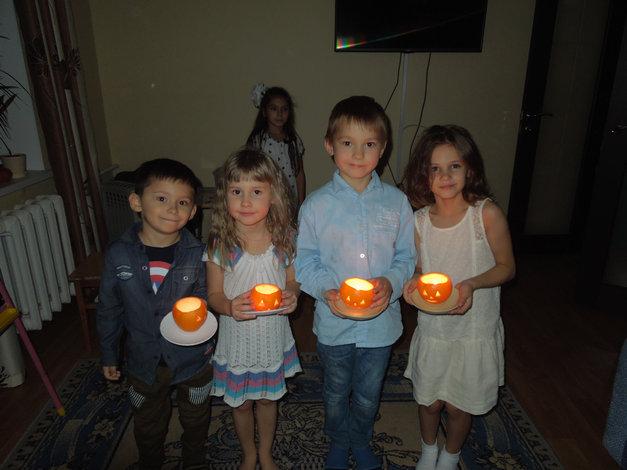 завершение детского праздника haloween